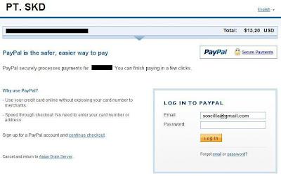 cara melakukan pembayaran menggunakan Paypal