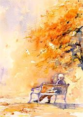 Admirez les aquarelles de Claudie Capdeville pleines de sensibilité et d'émotion ...