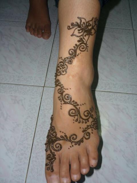 Mehndi Simple Kaki : Henna simple kaki makedes