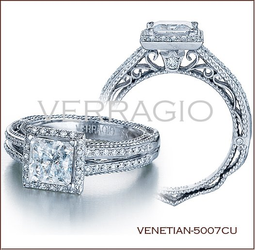 marquise cut engagement rings fit for royalty - Verragio Wedding Rings