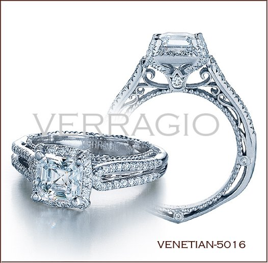 halo style engagement rings anyway you want it - Verragio Wedding Rings