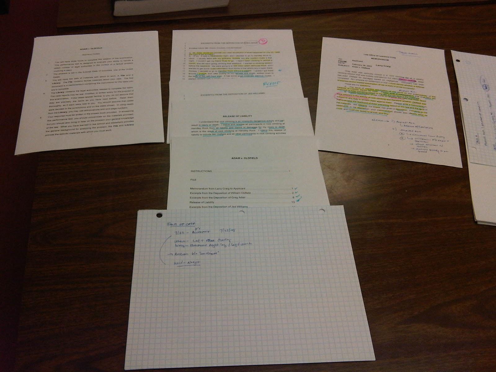 california bar exam essays 2011