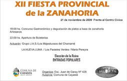 Nueva fecha para la Fiesta Provincial de la Zanahoria