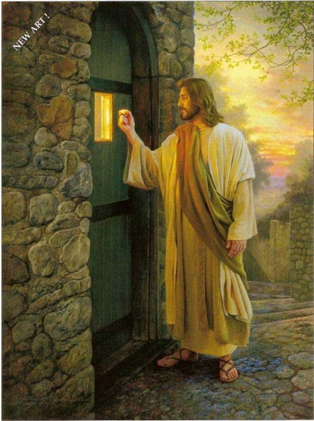 Pernahkah melihat gambar Tuhan Yesus yang sedang berdiri di depan