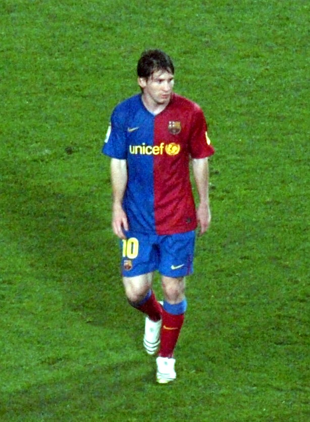 barcelona fc messi. plays for FC Barcelona and