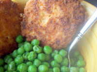 Salmon Patties with Green Peas