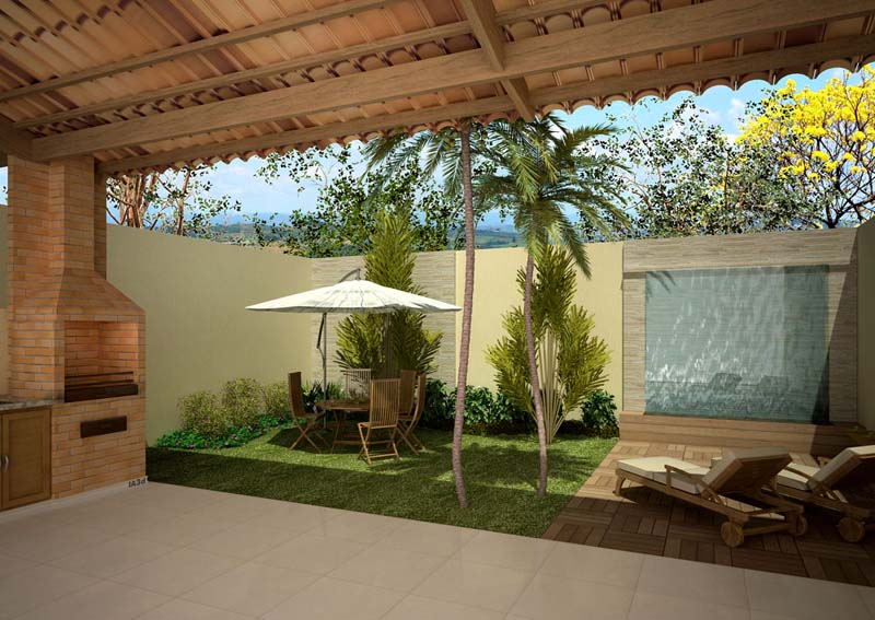 grama sintetica para jardim em curitiba:Quintal De Casa