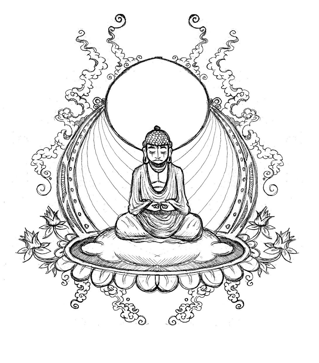 Free Coloring Pages Of The Buddha Buddhist Coloring Pages