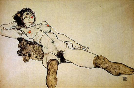 Egon Schiele Female Nude, 1914