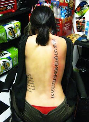 Female Back Tattoos