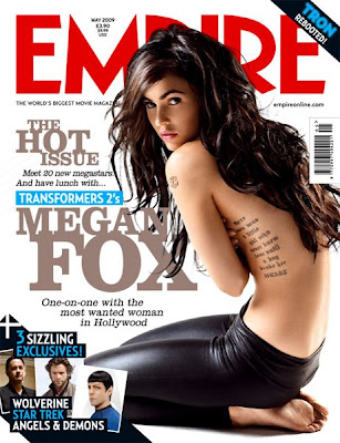 It appears that Megan Fox may be sporting a new tattoo, the Autobot logo,