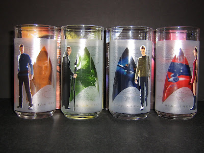 Front of the four glasses: Spock, Nero, Kirk, Uhura