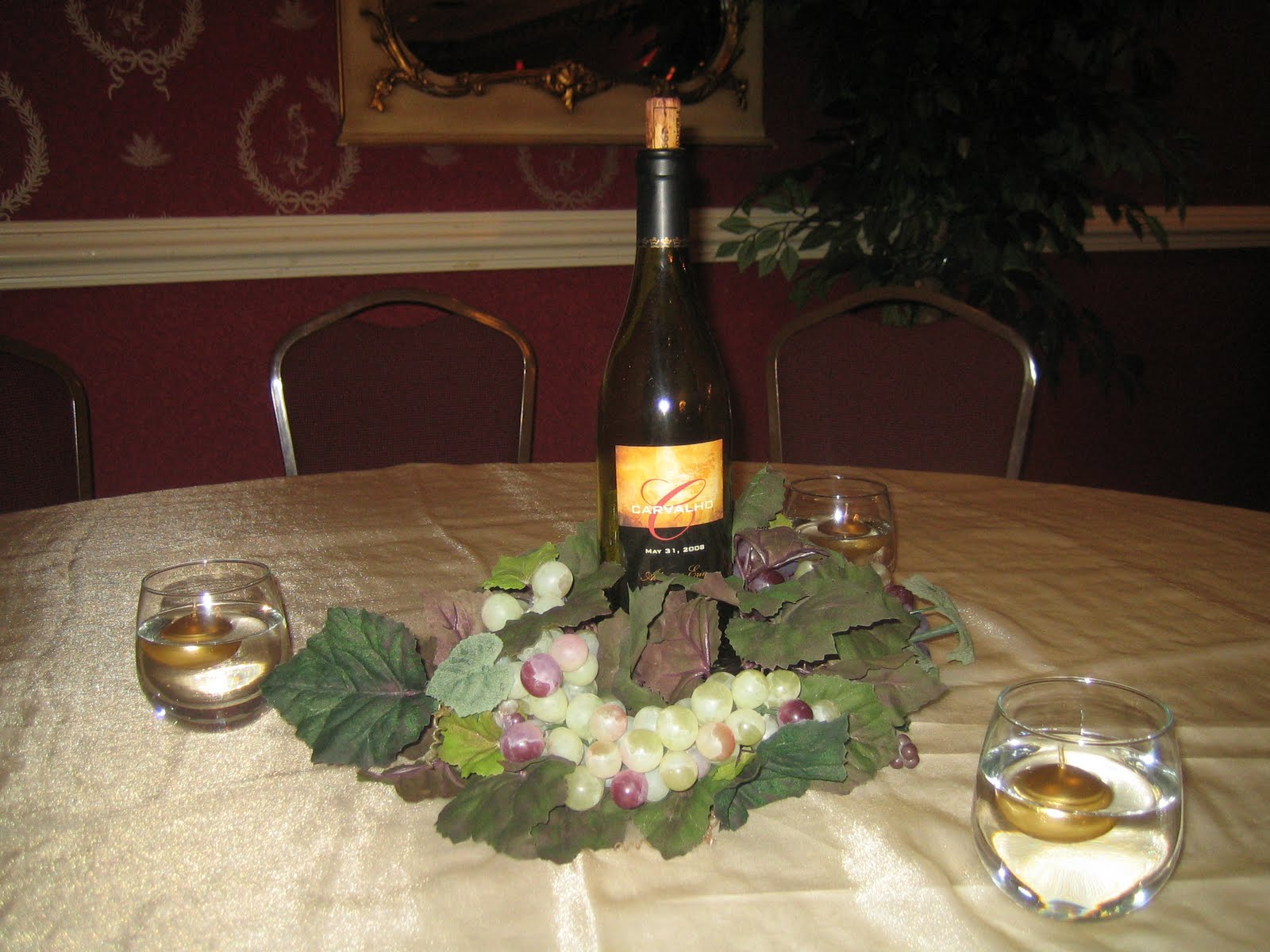 As you wish weddings and events wine wedding favors for Using wine bottles as centerpieces for wedding