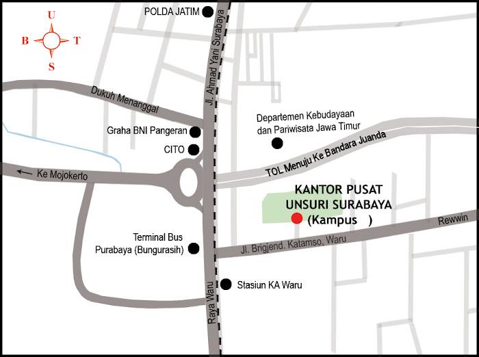 Peta Lokasi Universitas Sunan Giri