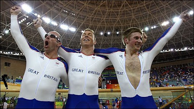 Great Britain team cycling<br />Jamie Staff Jason Kenny Chris Hoy