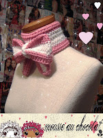 Mousse Au Chocolat- Famous Crocheted Bow Scarfs