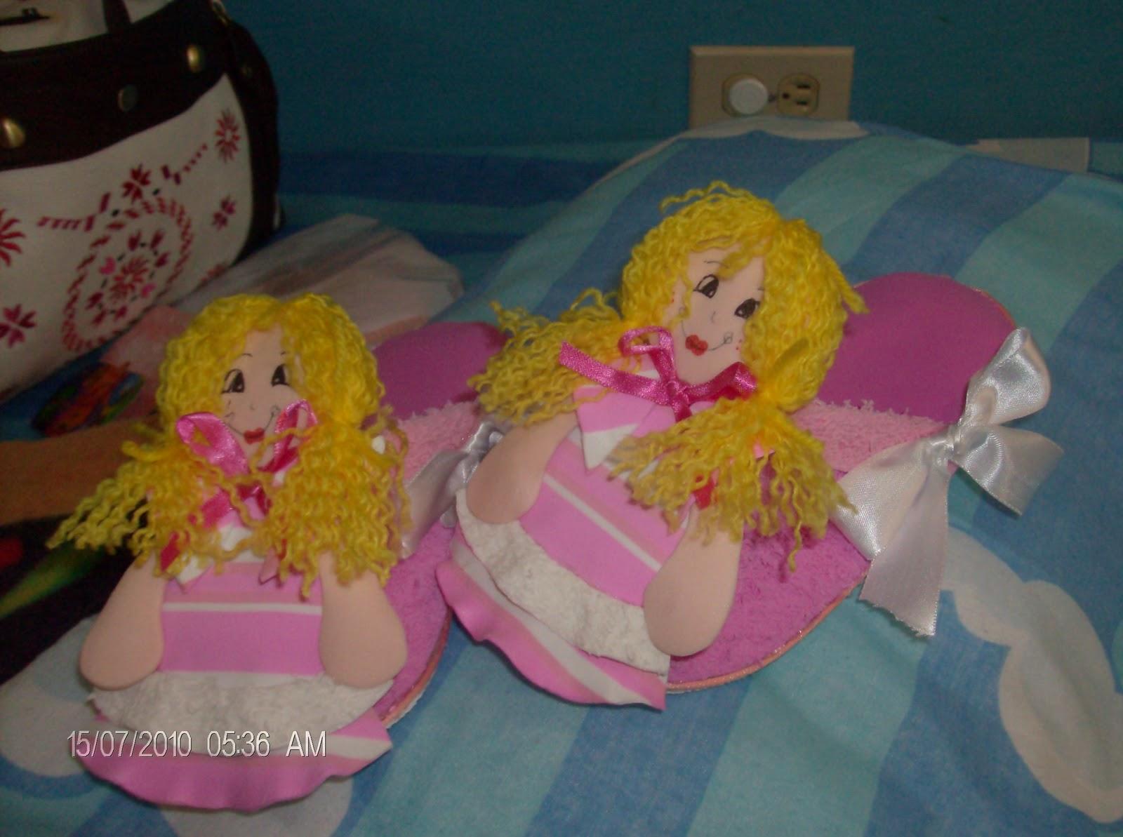 el color de mis manualidades: Pantuflas para niñas en foami