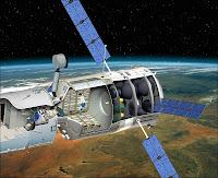 L'ATV arrimé à la station ISS. Document ESA.