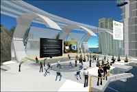 L'un des nombreux mondes virtuels de Second Life.