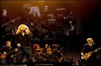 Led Zeppelin en concert le 10 décembre 2007 à Londres.