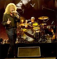 Led Zeppelin en concert le 10 décembre 2007 à Londres. Document Getty images.