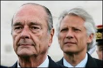 Jacques Chirac et Dominique de Villepin (alors Premier Ministre) en 2004.