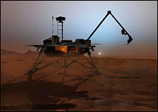 La sonde Phoenix Lander. Document JPL.