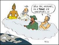Caricature de Mahomet, Bouddha, Jésus et consorts publiée sur le blog Islamla.