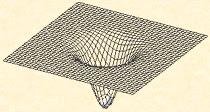 Déformation de l'espace-temps sous l'influence d'un corps massif (son champ gravitationnel).