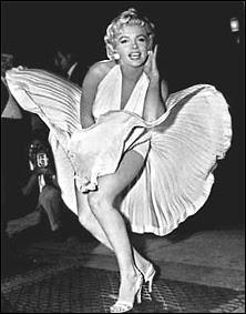 Marilyn Monrae photographiée par Matthew Zimmermann en 1954, sur le tournage de 'Sept ans de réflexion'.