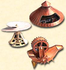 Maquettes de quelques unes des inventions de Léonard de Vinci.