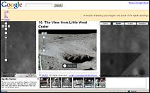 La surface lunaire photographiée au cours de la mission Apollo 11.