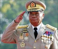 Le Président et dictateur birman Than Shwe.