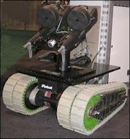 Un autre modèle de robot militarisé dit UGV de iRobot.