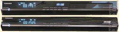 Les lecteurs Toshiba HD DVD EP35 (au-dessus) et EP30 (en-dessous).