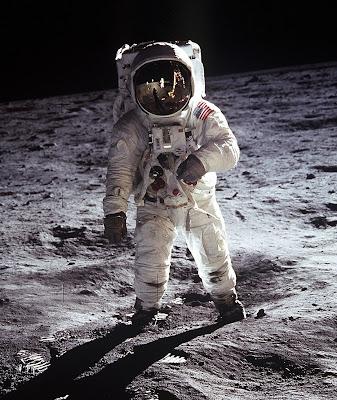 Buzz Aldrin sur la Lune au cours de la mission Apollo 11. Document NASA.