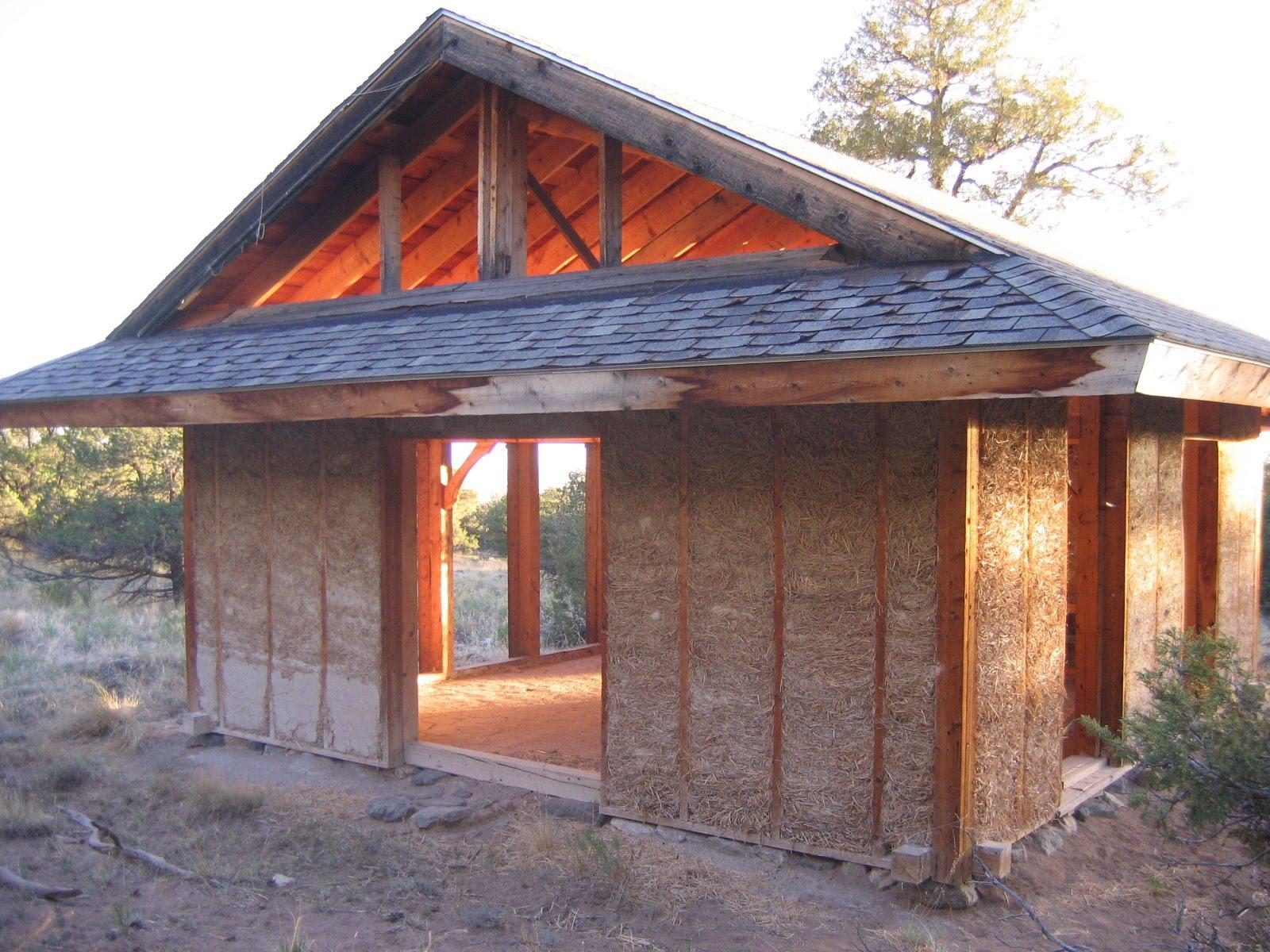 Построить дом из соломы своими руками