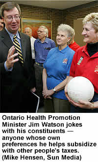 Jim Watson having a great time with taxes