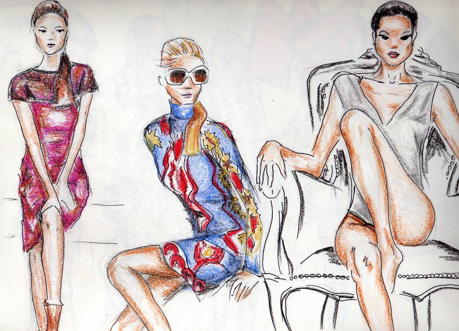 Apunta alto dise o y moda mezcla de materia for Dibujos de disenos de moda