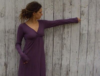 dusky purple dress from gaiaconceptions