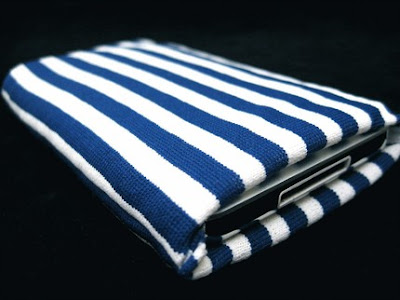 navy stripe iphone sock