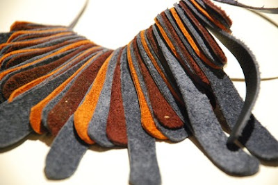recycled leather necklace from mainichi