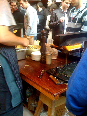 raclette stall at borough market