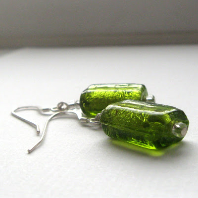 chartreuse coloured earrings