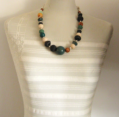 ceramic chunky beads on mannequin etsy gugaw