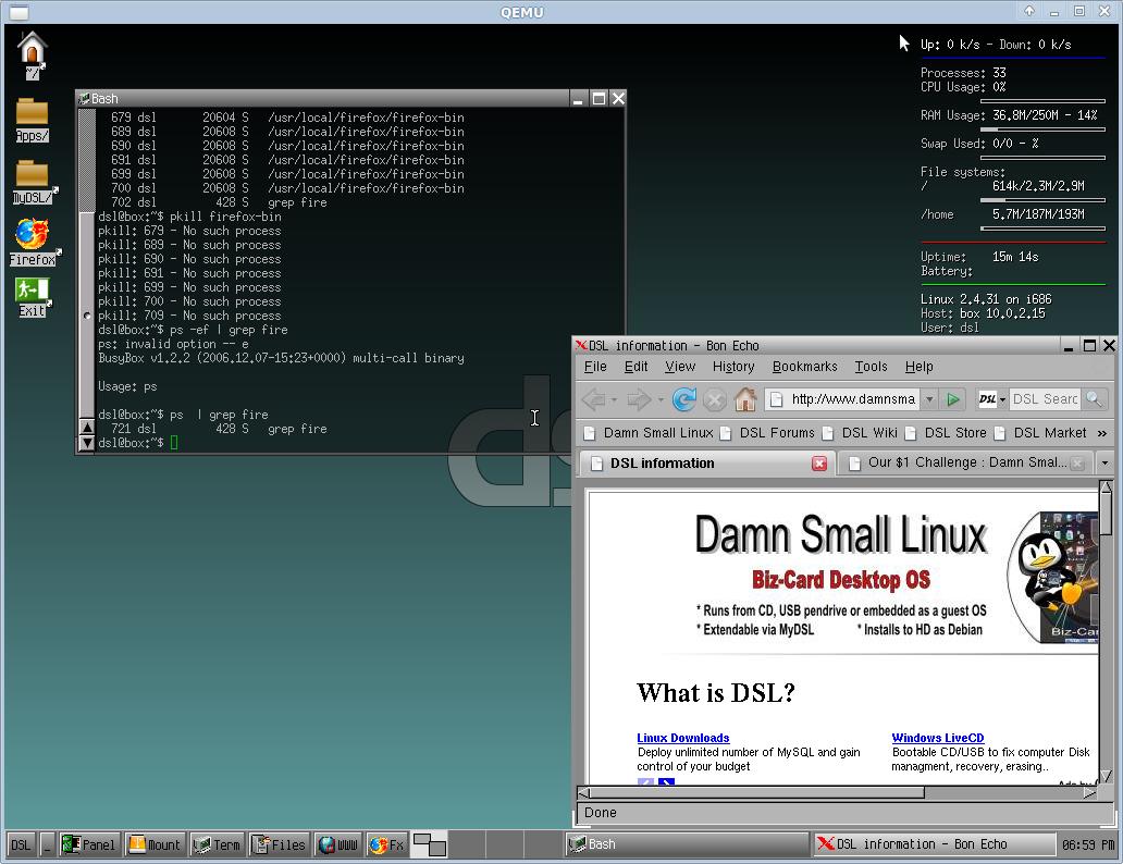 Smallest linux
