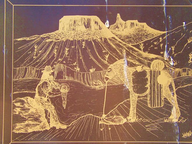 A PLAQUE 'GOLD IN DEM DAR HILLS' - WITH BIRD 'POO' - ARIZONA