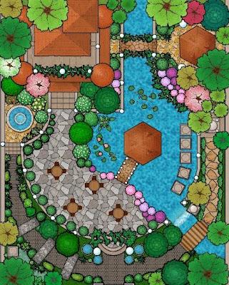 Landscape Architecture, Landscape Painting - Garden Landscape Architecture