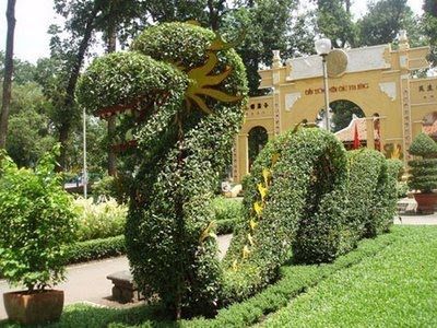 Garden Landscape Architecture with Dragon, Top Natural Landscape Painting - Natural Landscape Design