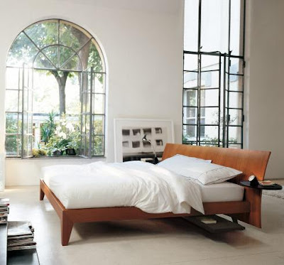 Solid Wood Modern Bed